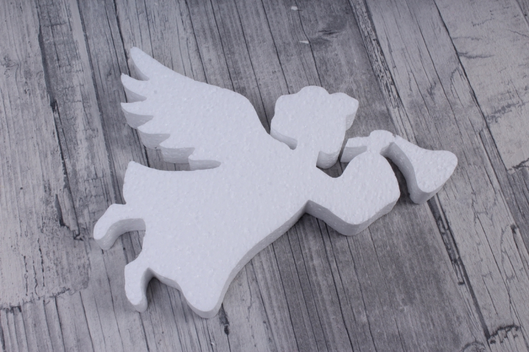 ангел пенопласт с дудочкой 15x7 h=2cm (1 шт в упаковке), ан-04