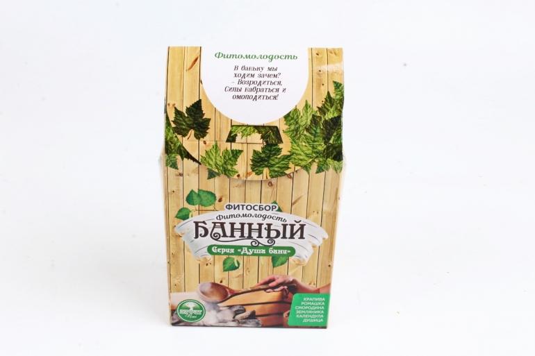 """Банный фитосбор серии """"душа бани"""" """"Фитомолодость"""" 80 г"""