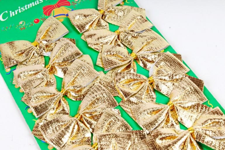 Бант 6*4см золото (12шт в уп)