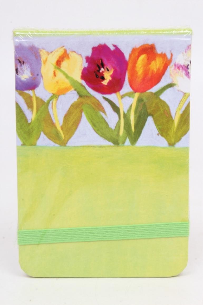Блокнот маленький Тюльпаны. 11х7.5см.