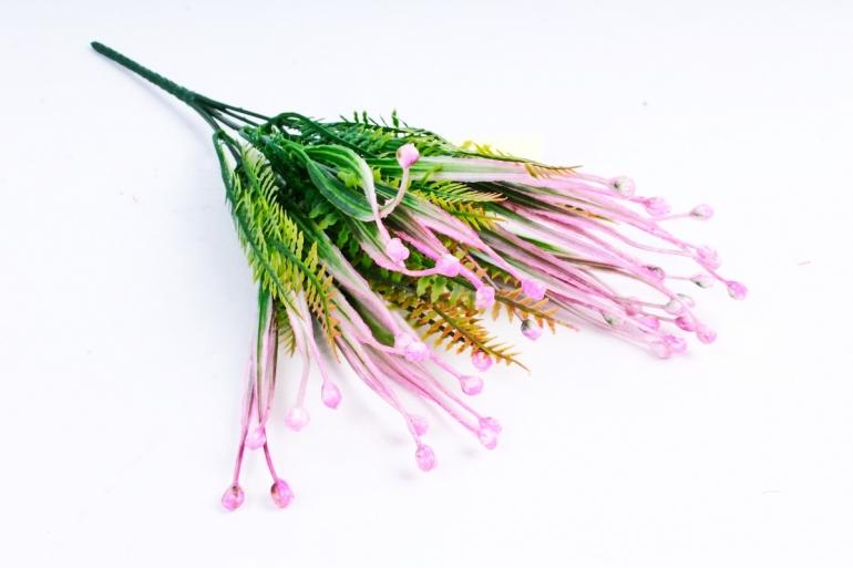 Бубенчики с папоротником розовые