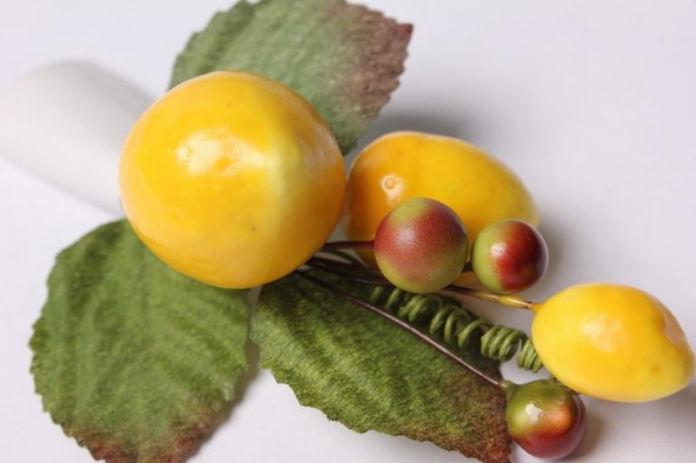 "букет декоративный ""желтые ягоды"""