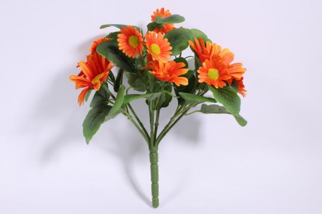 букет ромашек 25 см, оранжевый sun419