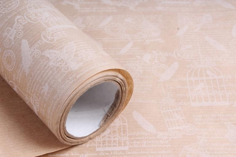 """Бумага Дизайнерский крафт """"Вдохновение"""" белый 40г/м2  70см*10м   Р799 М"""
