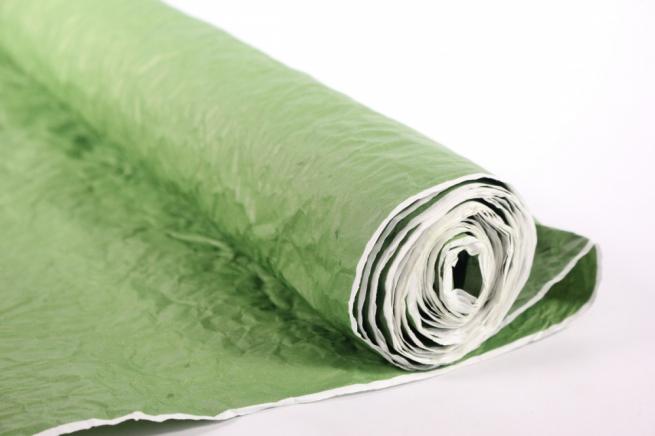 бумага жатая, однотонная, 70-75см/5я (зеленая, 109)