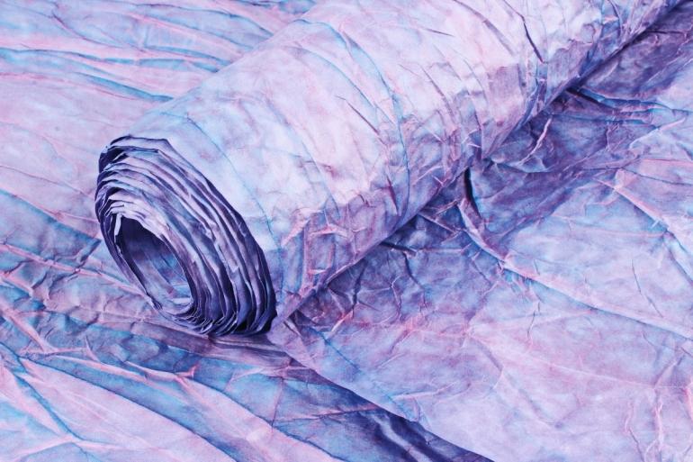 Бумага жатая 70см*5 ярд Сиренево-фиолетовая (15)