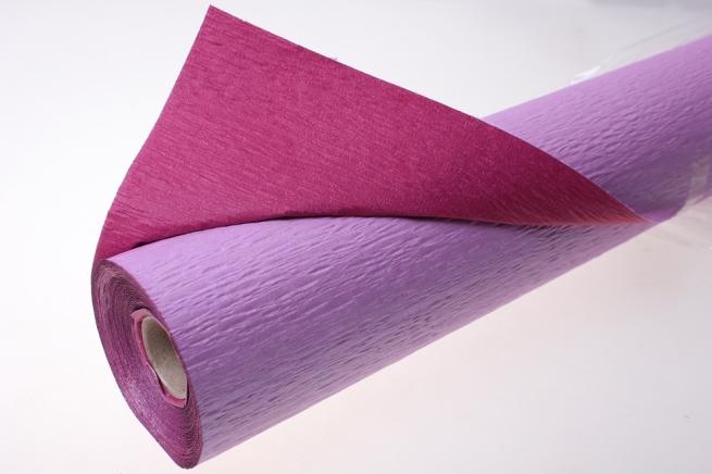 бумага жатая водостойкая для цветов 2х-цветная 50х10м - сиреневый-малиновый