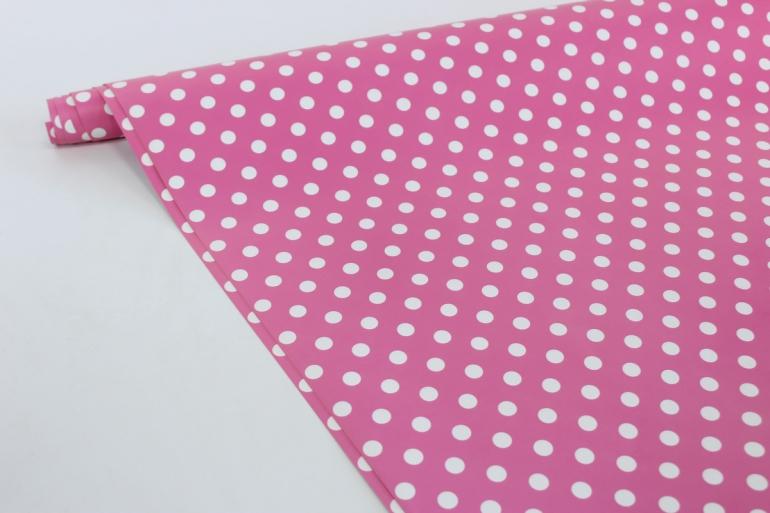 бумага  глянец 100/01-61 горох на розовом 0,7*1м (10 лист.)