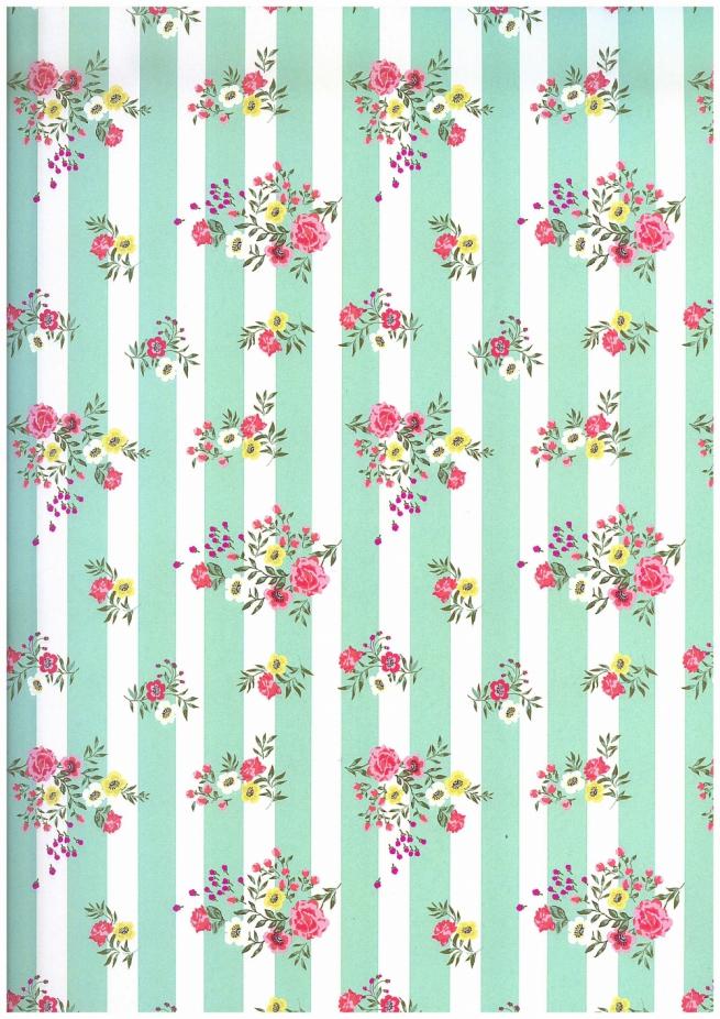 """бумага глянец 100/095 """"цветочная тельняшка"""" 0,7х1м в листе 31202 (10 листов в рулоне)"""