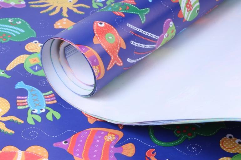 бумага  глянец  рыбки  0,7*1м в лист. (10 лист.)  78г/м2  м
