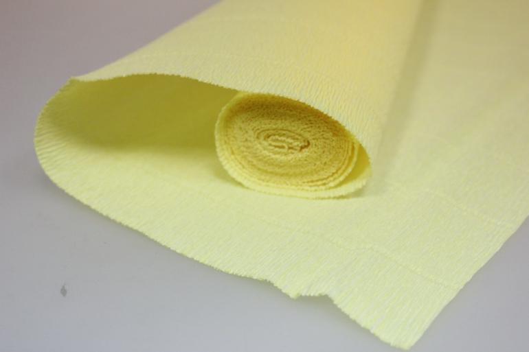 бумага гофрированная простая 573 светло-желтый