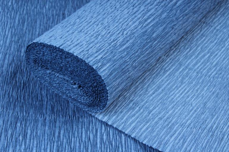 бумага гофрированная простая 615 морская волна