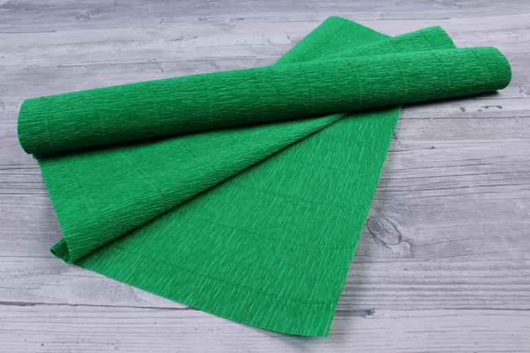 Бумага гофрированная простая - зелёный 563, цена 99 руб., b563
