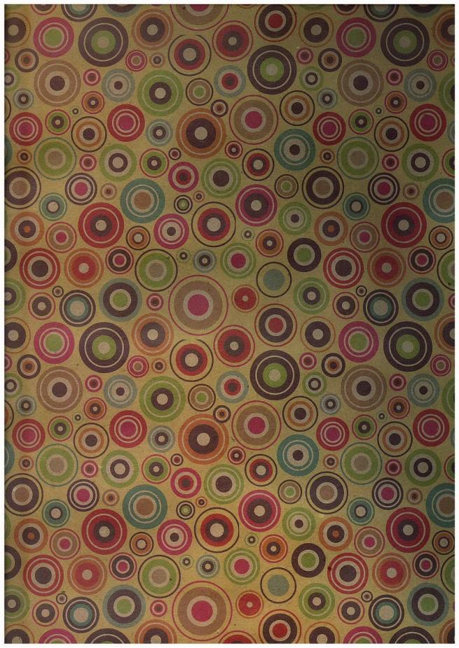 бумага крафт цветные кружки 1*70 (10 шт в уп) unc-k