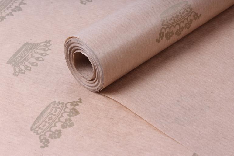 бумага  крафт цветочная короны золото 72см*10м  40г/м2    33780пу   м