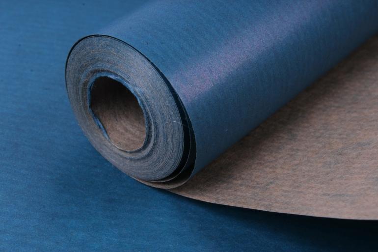 бумага  крафт цветочная синий 70см*10м  40г/м2    33609пу   м