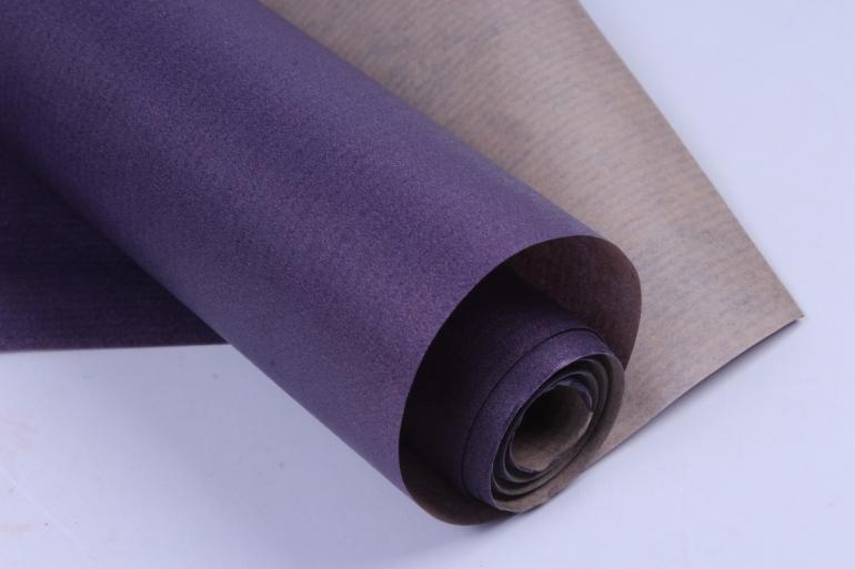 бумага  крафт цветочная сиреневая 70см*10м  40г/м2    32525пу   м
