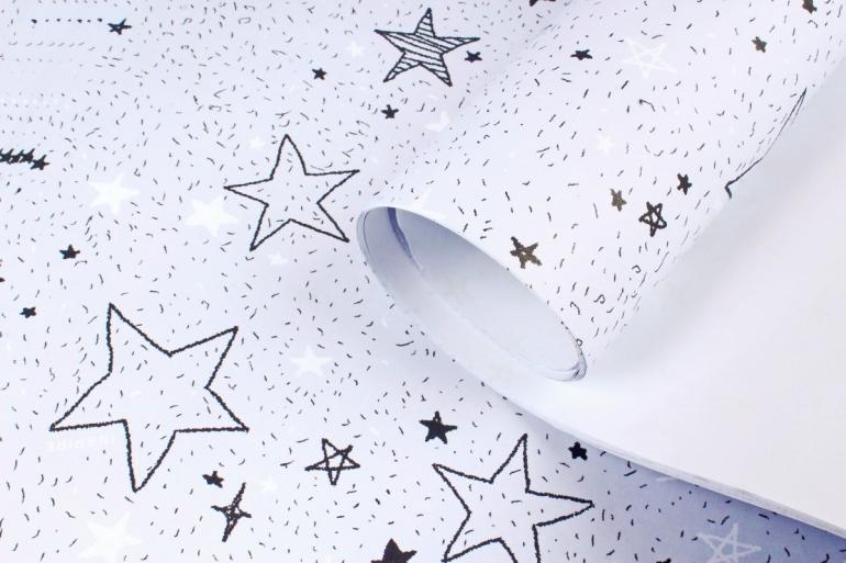 Бумага НГ 1*70 Дизайнерская бумага Звёзды 78г/м2 PinP-S