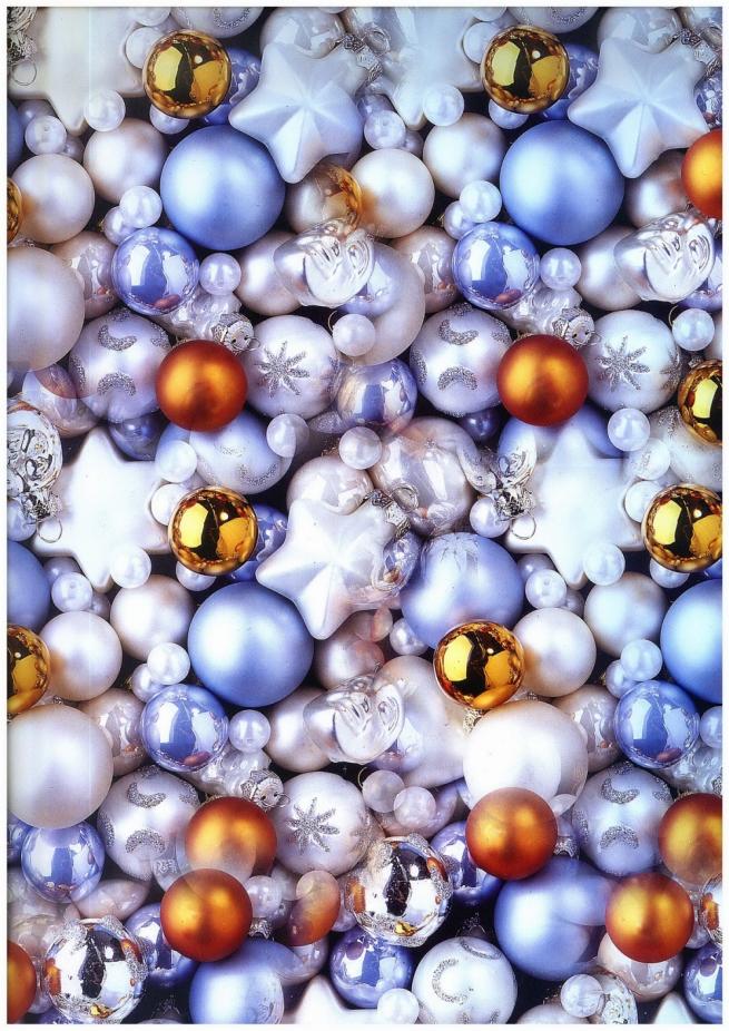 """бумага подарчоная глянец """"новый год. много шаров"""" 0,7х1м в листе (10 листов)"""
