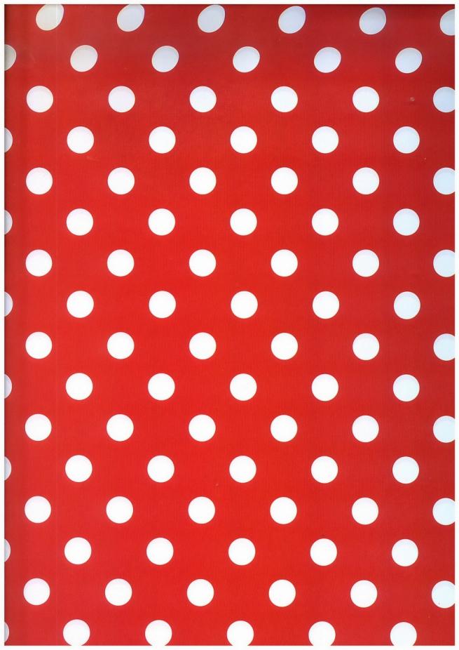 "бумага подарочная глянец 100/612 ""горох на красном"" 0,7х1м размер листа (10 листов)"