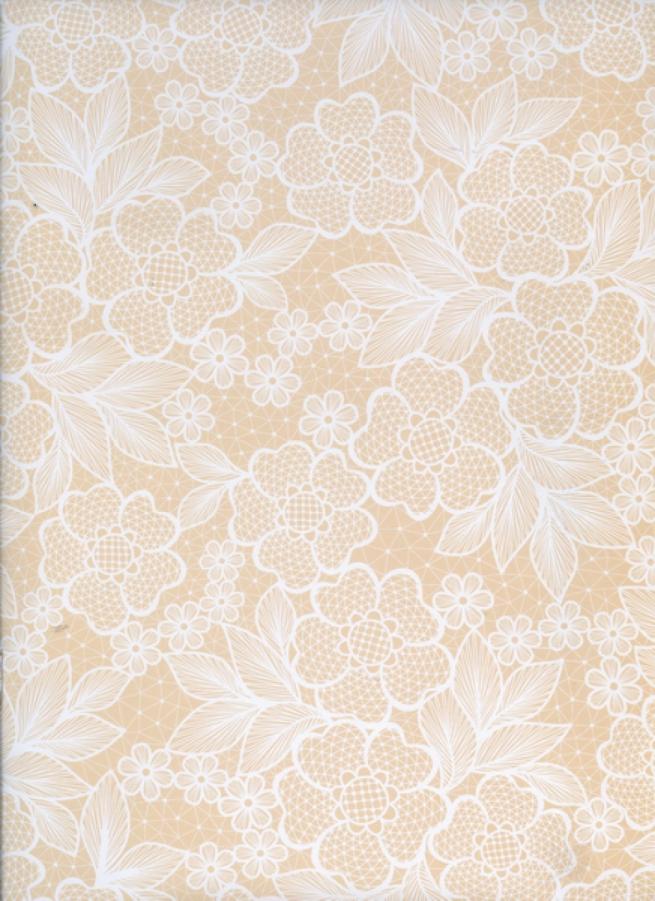 """бумага подарочная глянец """"свадебный гипюр"""" 0,7*1м в листе (10 листов в рулоне)"""
