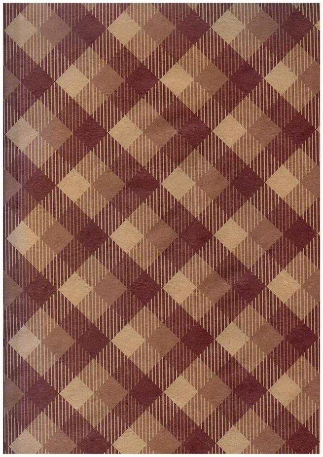 """бумага подарочная крафт 203/661 """"шоколадный тартан"""" 0,7х1м в листе (10 листов)"""