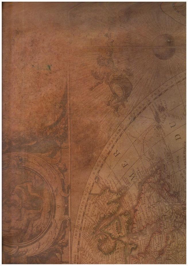 """бумага подарочная крафт 203/662 """"вековая карта мира"""" 0,7х1м в листе (10 листов)"""