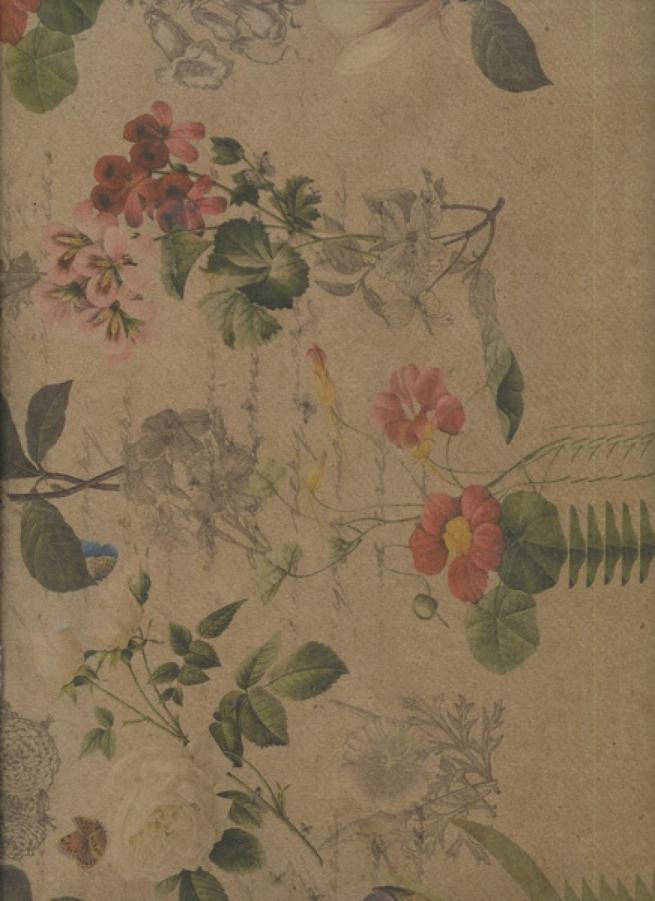 "бумага подарочная крафт ""цветы ретро"" 0,7х1м в листе (10 лист.)"
