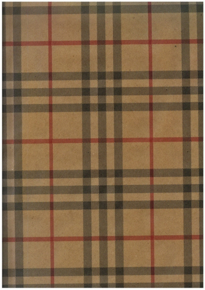 "бумага подарочная крафт ""шотландка бежевая"" 0,7х1м в листе. (10 листов в рулоне)"