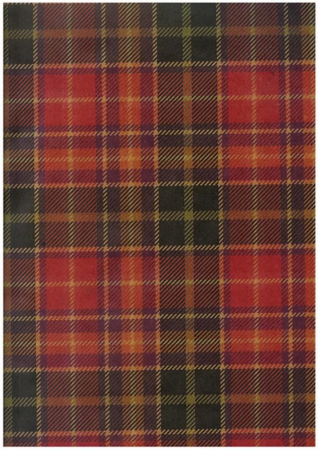 "бумага подарочная крафт ""шотландка красная""   0,7х1м в листе. (10 листов в рулоне)"