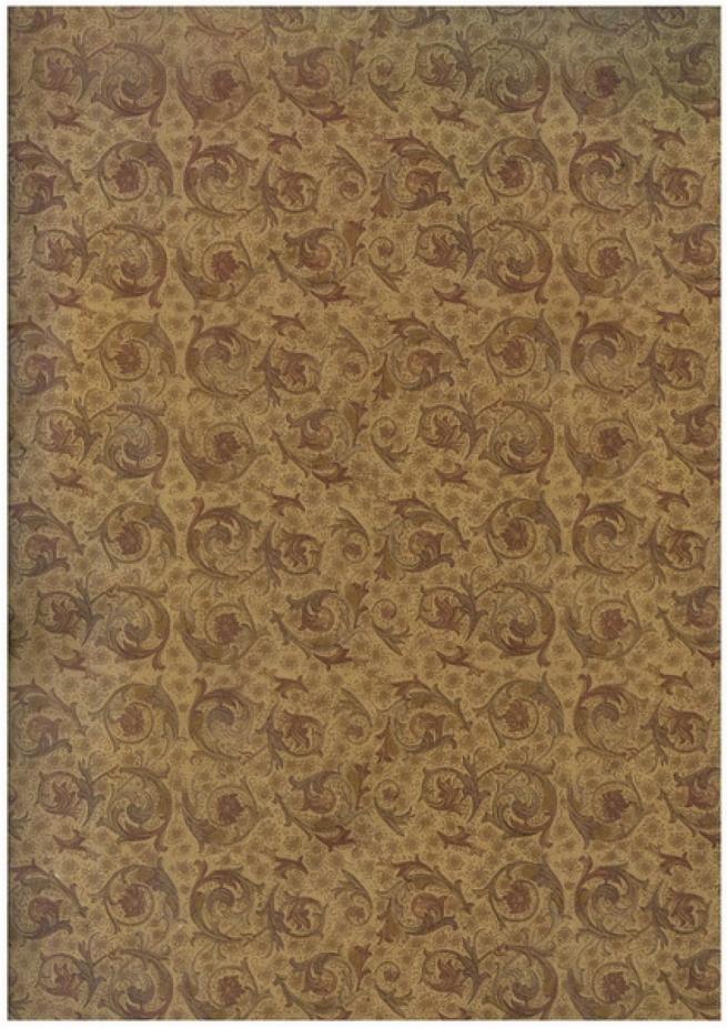 бумага подарочная крафт вензеля  0,7х1м в листе (10 листов в рулоне)