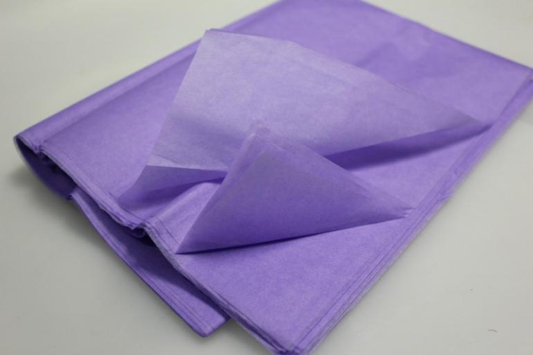 бумага тишью сиреневая 76х50см (10 листов в уп)