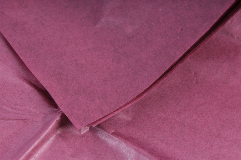 Бумага тишью 51*66см  Бордовая в листах 17гр 10 листов  7501  PTQ7501 (М)