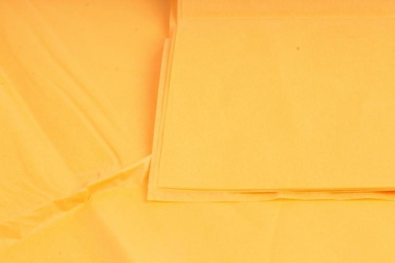 Бумага  тишью (Ч) оранжевая  50*66см (10 листов в уп)