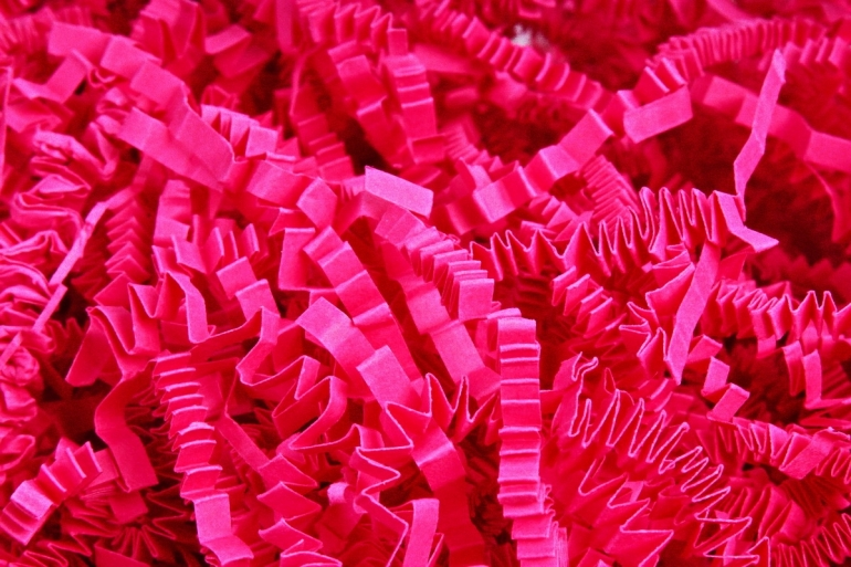 Бумажный наполн. Волна (3мм) Кукольный розовый  (806) 100гр