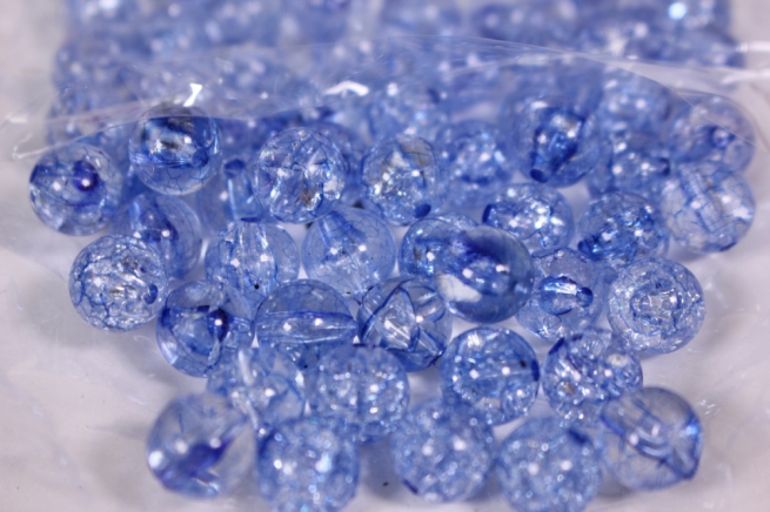 бусины  10мм круглые синие  (50гр) pl  01-10 849