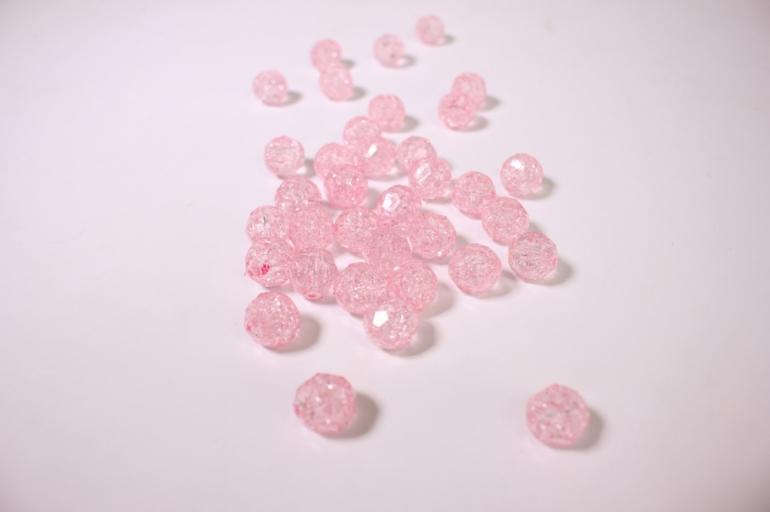 бусины 14мм 50гр- светло-розовые 02-14 864 9163