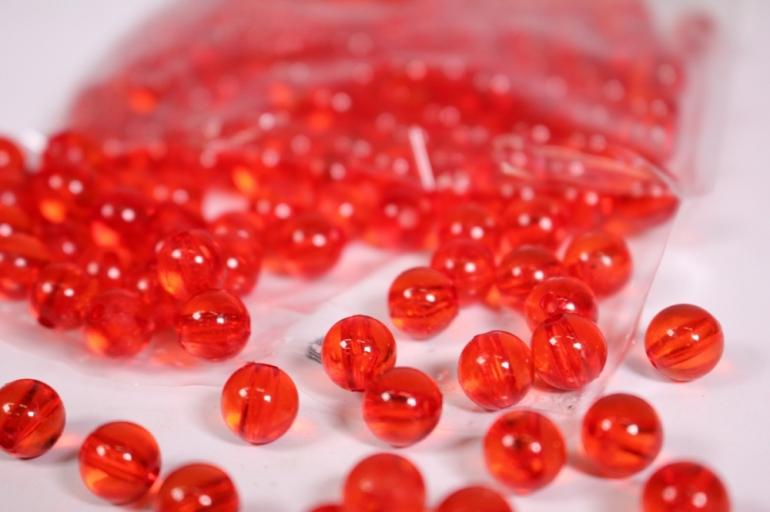 бусины  8мм  круглые прозрачные красные  (50гр) pl в асс. 108 acs19