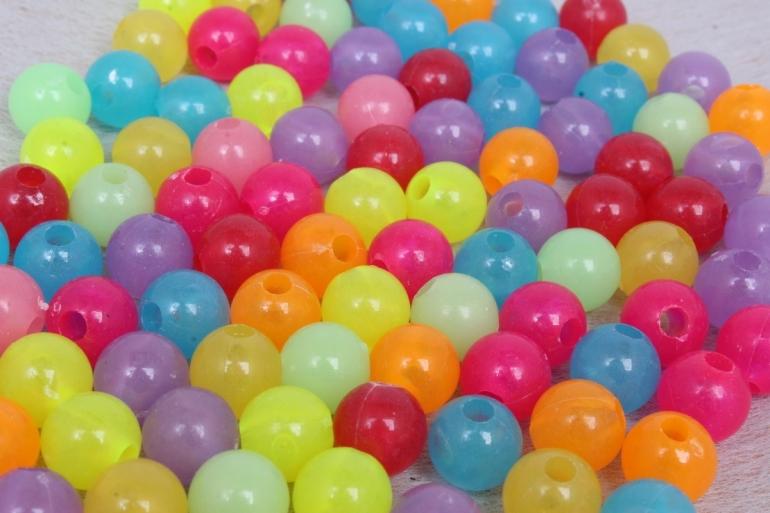 Бусины (А) цветные Мармеладки  (10мм) в пакете 100гр
