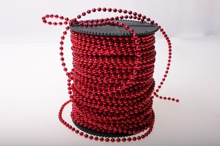 бусины 4 мм 40 м. бусины на бобине 4мм на 40м в ассортименте - красный 2498