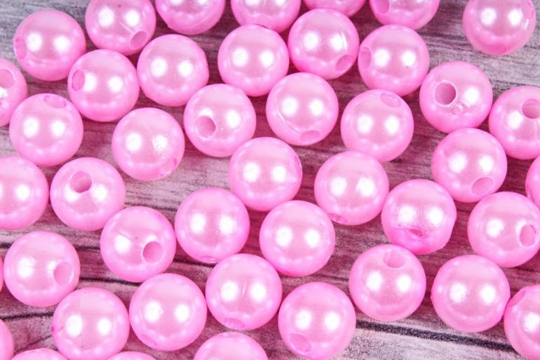 Бусины  10мм  Круглые Розовые (50гр) K10-18
