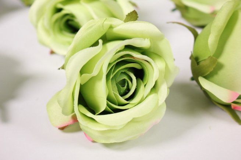 бутон розы зеленый (в уп. 12 шт) d=9см mght