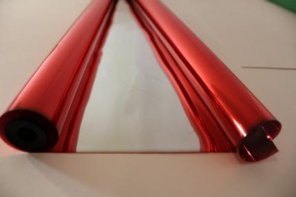 цвет.мет 0.7 цветочная плёнка - рулон 0.7 цвет.мет - красный 9413