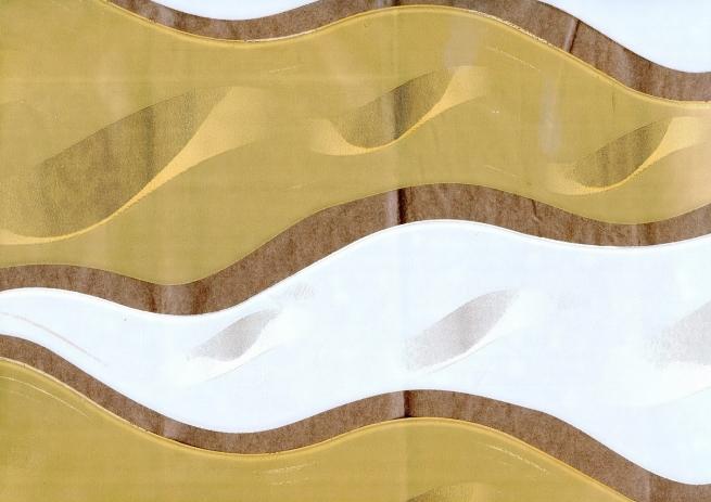пламя 0.7 цветочная плёнка - рулон 0.7 пламя - бело-бронзовый 7131