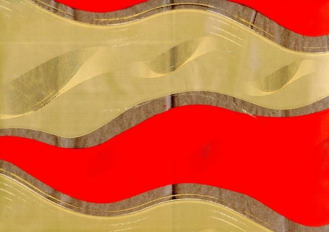 пламя 0.7 цветочная плёнка - рулон 0.7 пламя - красно-бронзовый 7135