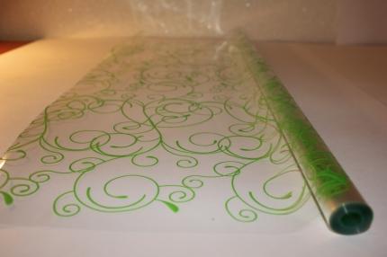 серпантин 0.7 цветочная плёнка - рулон 0.7 серпантин - салатовый 13739
