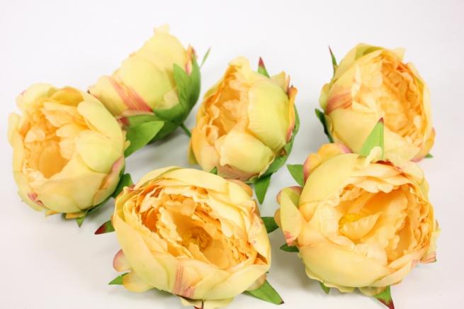 цветок пиона большой в упаковке 6шт, d=15см - розово/желтый kwla288v 6210