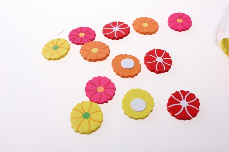 липучки декоративная липучка флористическая - 8488 наклейка цветочек (24шт. в уп.) 2573