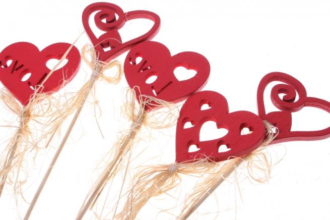 вставки декоративная вставка флористическая - 4571 вставка сердце с любовью блестками (12шт в уп) 2429