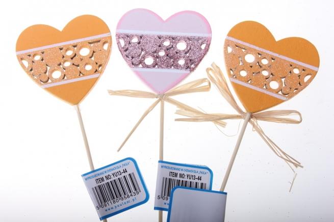вставки декоративная вставка флористическая - 8439 вставка сердце кружево (оранжевый сирень) (12шт в уп) 2431